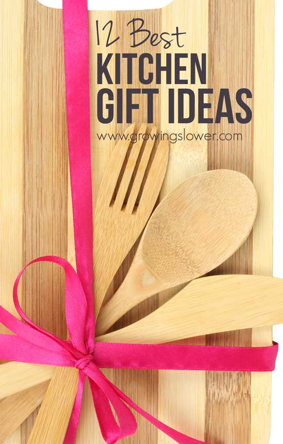 Stumped at what to gift your favorite foodie? Check out 12 these must-have kitchen gift ideas including gifts from stocking-stuffers under $10 right on up! & 12 Best Kitchen Gift Ideas from just $10