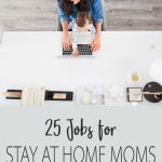 mom working in home office with baby