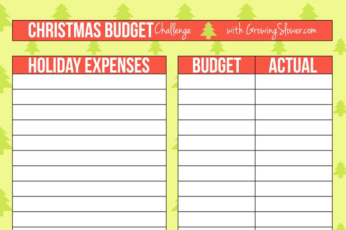 Christmas Budget Worksheet Free Printable and How to Use It