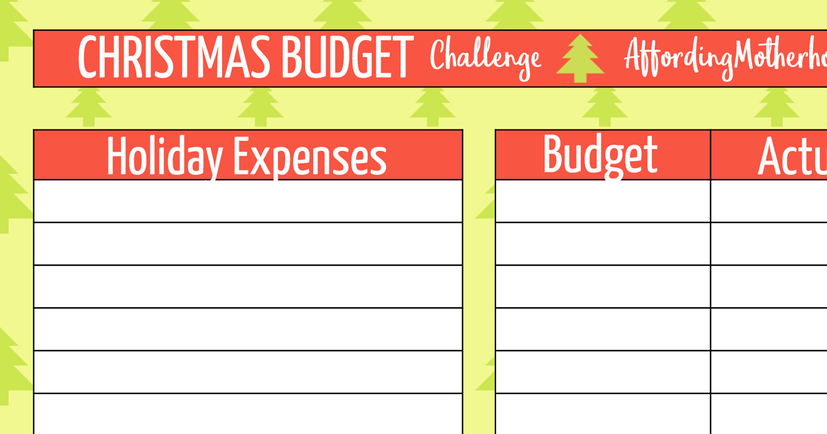 Free Christmas Budget Worksheet Printable – Budget Worksheet