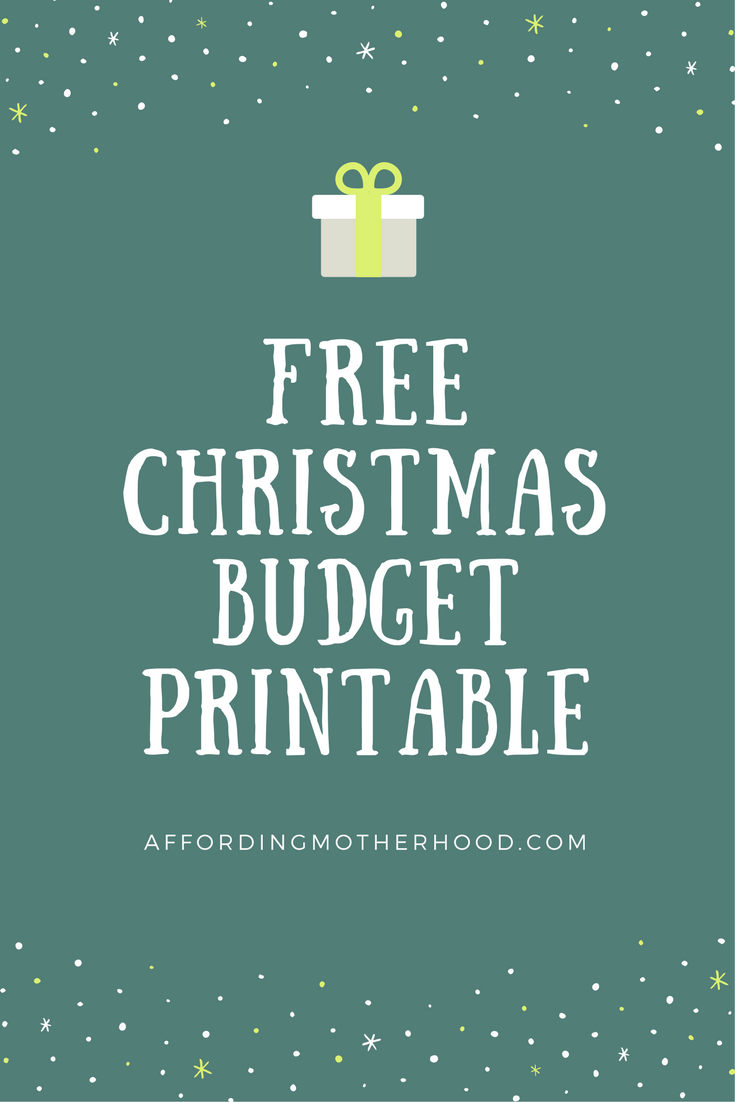 Free Christmas Budget Worksheet Printable | Affording Motherhood