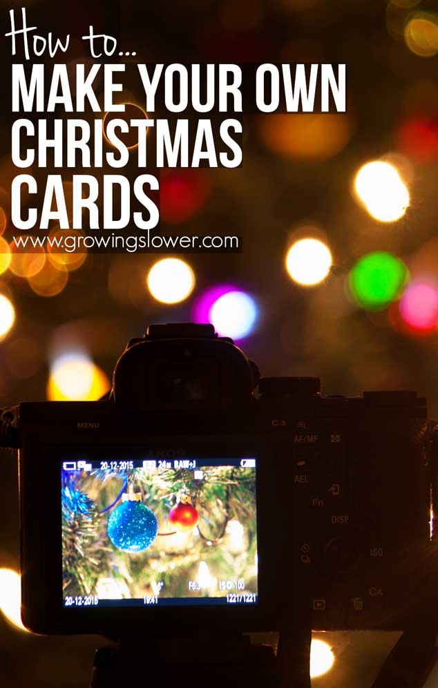 How to Make Your Own Christmas Cards - Easy 8 Minute Tutorial