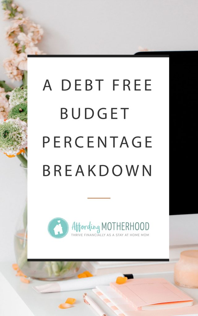 Wondering how much you should spend in each budget category? Here is a budget percentage breakdown comparing our real life monthly household budget, Dave Ramsey's budget percentages, and the spending habits of the typical American. Plus, tips for making your own debt free budget plan.