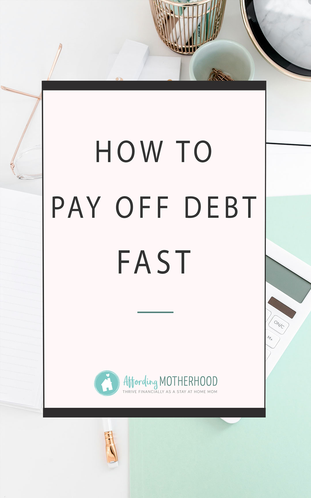 Even if you only have a few dollars socked away in a mason jar, even if you have no money right now at all, let me share with you why you can (and should) get out of debt, and how you can do it fast!