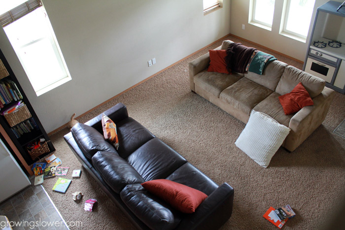 budget living room makeover before and after + how to