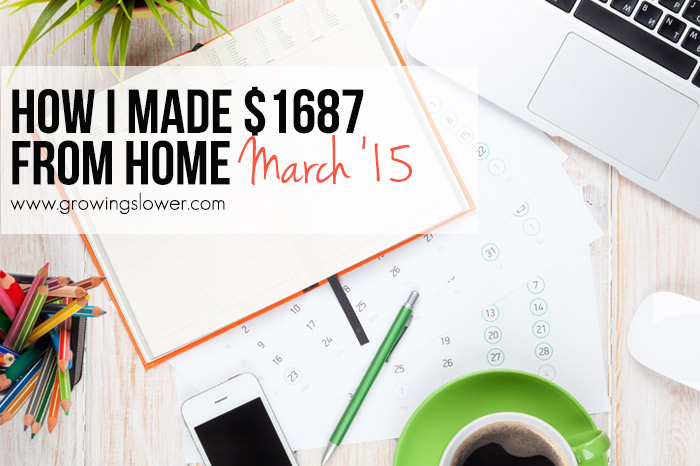 How I Earned $1,687 from Home in March