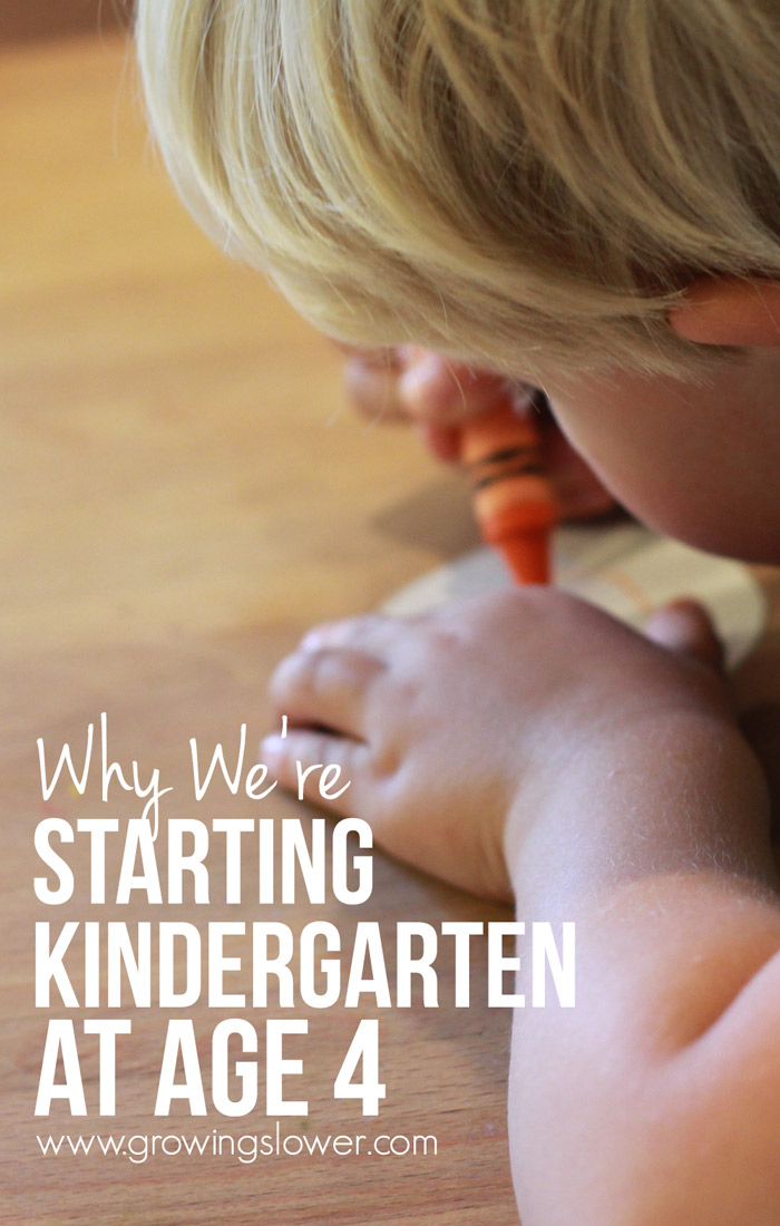 Wondering when to start homeschool kindergarten? These are the 4 reasons we chose to start our son's formal home education at age 4 and why we're loving it!
