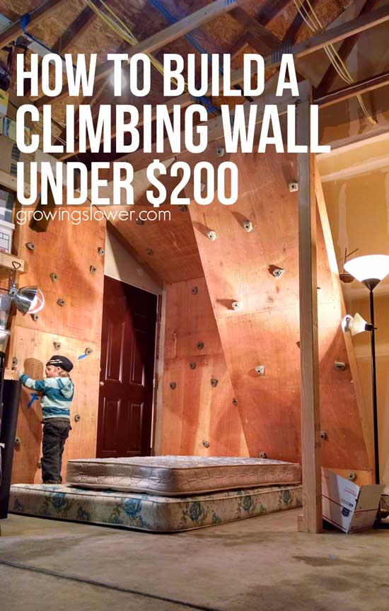 How to build a home climbing wall under 200 diy for Best material to build a house