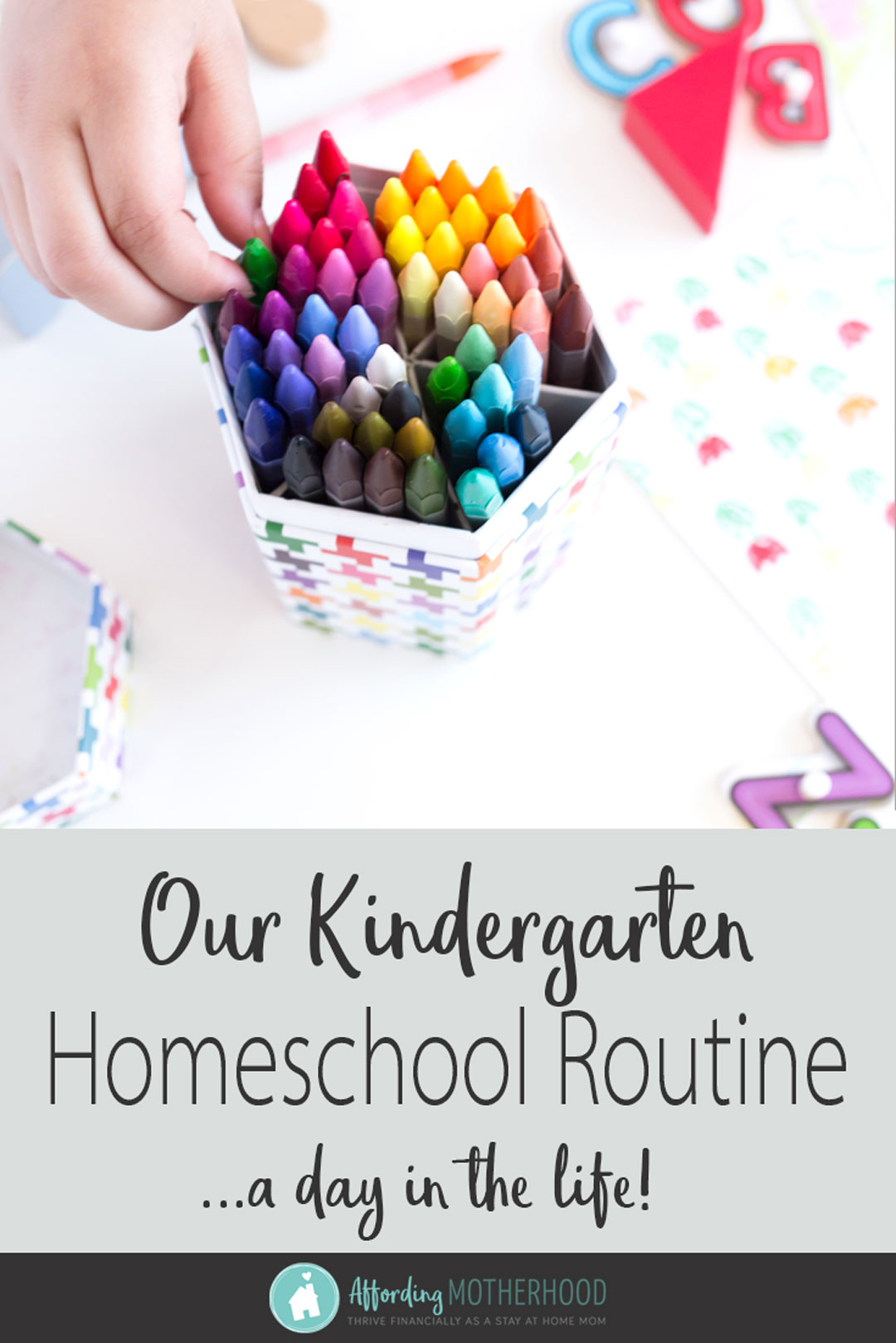 What do you get when you add one smart kindergarten student, one work-at-home mom and busy two year old? Well, it's a day in the life of our kindergarten homeschool schedule. Despite my initial feelings overwhelm, by the end of the year we'd fallen into a peaceful homeschool routine. I've included all the details, complete kindergarten homeschool ideas for you, plus what to do with the toddler during school, right here!