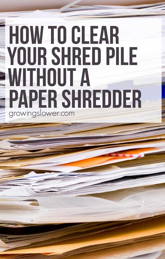 Where do i shred papers