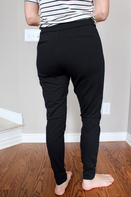 Ponte pants are the fabric of yoga pants with the details of pants like slit pockets to make you look more put together.
