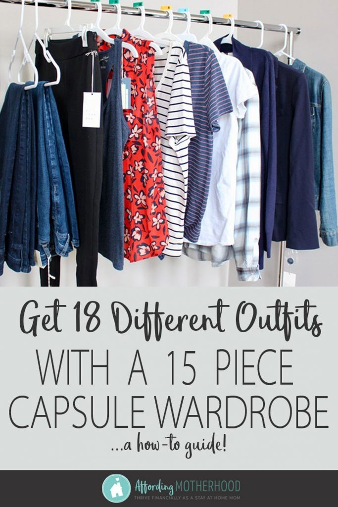 As a stay at home mom, you can still feel confident and comfortable in your clothes! This guide will help you create the perfect capsule wardrobe on a budget. With just a few key pieces, you can have a closet with clothes you love and look and feel great in! #casual #stayathomemom #closet #capsulewardrobe