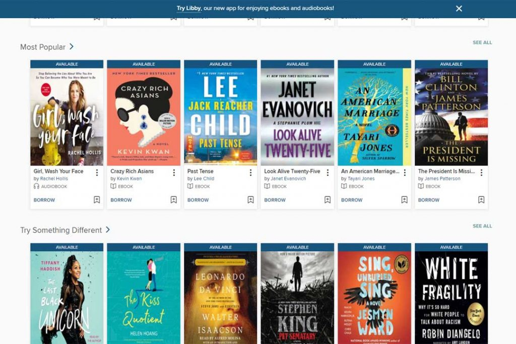 Read popular newer titles for free on Overdrive through your local library (without ever leaving home.)